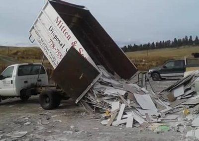 Mitten Job dumping drywall